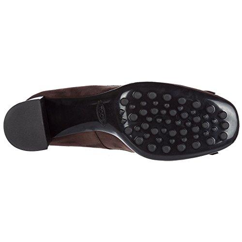Tod's en Daim à Escarpins Femme Talon Chaussures Marron t70 AwrRZqxA