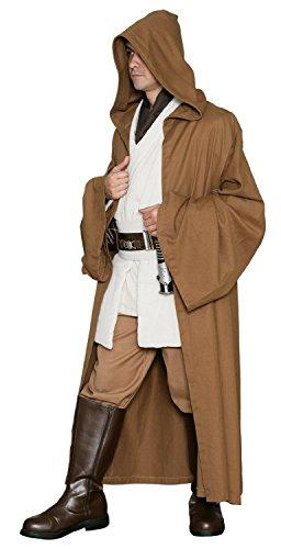 Jedi-Robe Men's Star Wars Robe Light Brown (Jedi Tunic Costume)