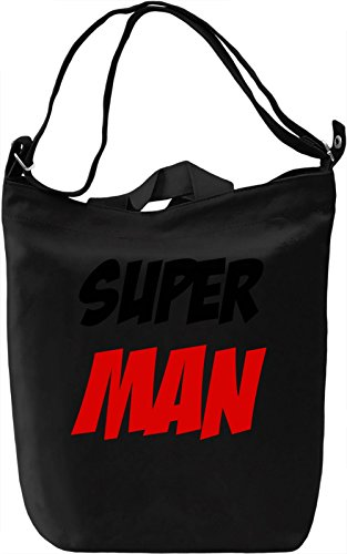 Super man Borsa Giornaliera Canvas Canvas Day Bag  100% Premium Cotton Canvas  DTG Printing 