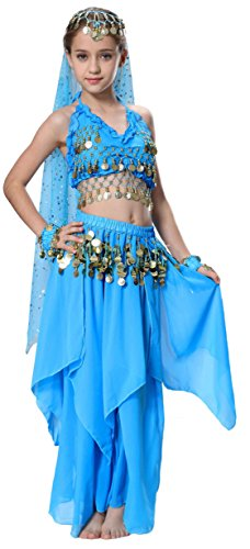 Genie Costume for Girls in Blue with Size 6 7 (Genie Costume)