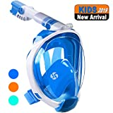 WSTOO Full Face Snorkel Mask-Advanced Safety Breathing System Allows You to Breathe More Fresh Air While Snorkeling,180 Panoramic Anti-Fog Anti-Leak Foldable Snorkel Mask for Adult and Kids