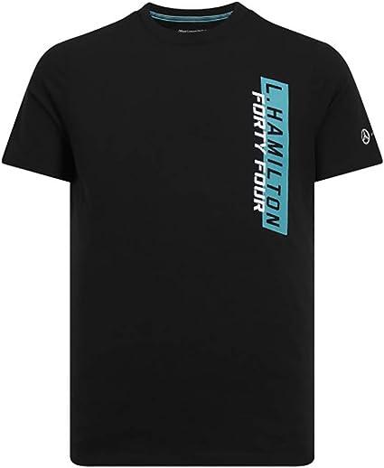2018 Mercedes AMG F1 T Shirt Lewis HAMILTON 5 Times World Champion Tee OFFICIAL