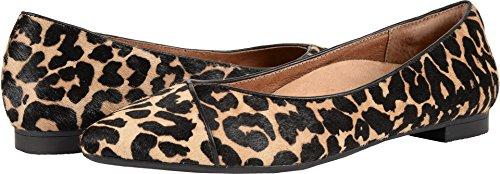 Vionic Womens Caballo Ballet Flat Tan Leopard Size 9 Wide by Vionic