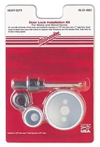 MILWAUKEE ELECTRIC TOOL 49-22-4063 Milwaukee Door Lock Hole Saw Kit