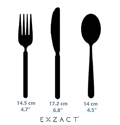Exzact Stainless Steel 6 pcs Children's Flatware Cutlery Set - 2 x Forks, 2 x Safe Dinnerknife, 2 x Dinner Spoons