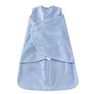 HALO SleepSack Micro-Fleece Swaddle, Baby Blue, Newborn
