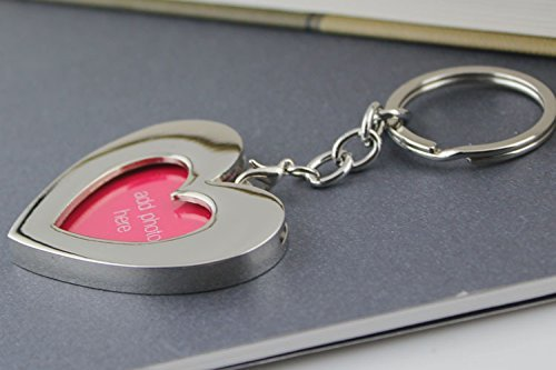 Heart Shaped Keychain Picture Frame