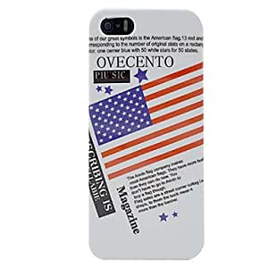 Buy Newspaper USA American Flag Hard Cover Case for iPhone 5/5S