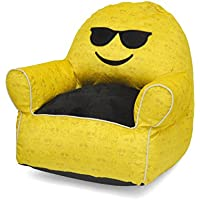 Emoji Pals Sunglasses Toddler Bean Bag, Yellow