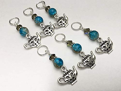 Teapot Knitting Stitch Markers - Gift for Knitters