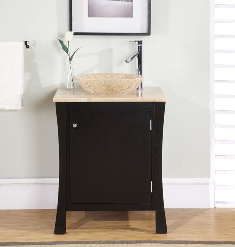 Silkroad Exclusive Bathroom Vanity HYP-0711-T-TT-26 Vanessa 26'' by Silkroad Exclusive
