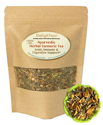 Ayurvedic Anti-Inflammatory tea - Organic loose leaf Turmeric Tea with Ginger, Lemongrass and Licorice (loose tea, 4 ()