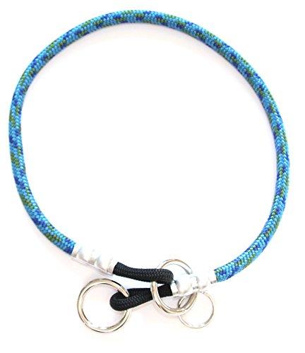 National Leash Mountain Rope Choke Collar 16 Inch - Hawaiian Blue- Small to Medium Dogs