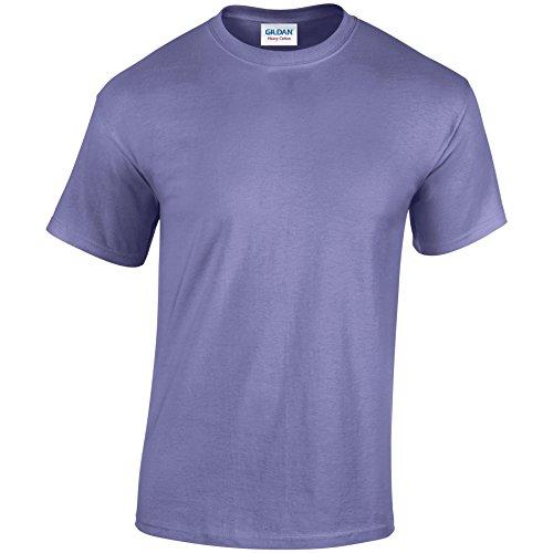 Gildan Heavy Camiseta de algodón para adultos Violeta