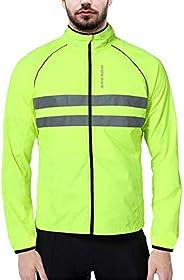 WOSAWE Packable Cycling Jacket Hooded Running Coat Lightweight Biking Windbreaker
