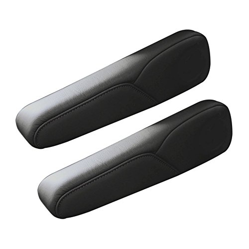 Black Leather Armrest Cover Upholstery product image