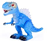 T-Rex Electronic Walking Dinosaur with Flashing Lights and Realistic Animal Sounds (Blue)