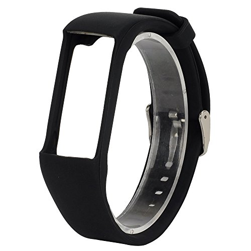 QGHXO Band For Polar A360/Polar A370, Soft Adjustable Silicone Replacement Wrist Watch Band For Polar A360/Polar A370 Watch (black)