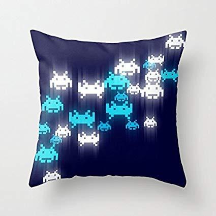 Penelope Space Invaders Canapé Taie doreiller décoratif Canapé Housse de Coussin Pour le Salon Toile Slipcover B 679328