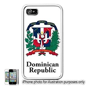 Dominican Republic Coat of Arms Flag Emblem Apple Iphone 4 4s Case Cover White