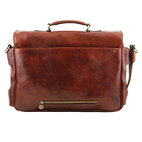 nero Multicomparto Portafogli In Anteriori Tasche Ventimiglia Leather Marrone Intelligente Tuscany Scuro Tl Pelle Tl141449 1pzE7w
