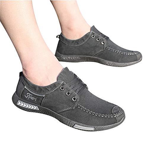 (AgrinTol Fashion Denim Canvas Shoes Men's Casual Sports Shoes Low-Top)