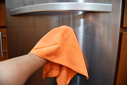 DRI Professional Extra-Thick Microfiber Cleaning Cloth - 16 in x 16 in - 72 Pack (Orange) - Ultra-Absorbent, Quick Drying, Chemical-Free Cleaning by DRI (Image #5)
