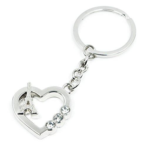 Fashion Woman's Key Ring Shiny Keychain Musical Notation Key Tag (Heart -
