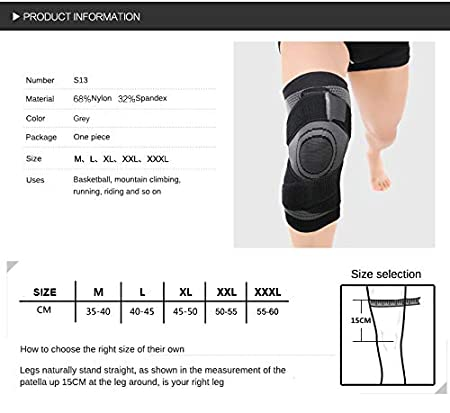 Knee Pads Compression Fit Support -for Joint Pain and Arthritis Relief Wear Anywhere Mumian Knee Sleeve Single Improved Circulation Compression
