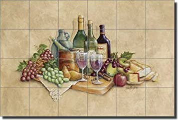 Wine Grapes Ceramic Tile Mural Backsplash 25 5 Quot X 17 Quot Wine Time By Rita