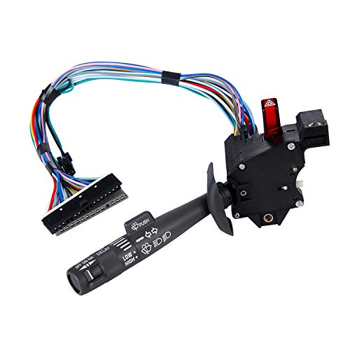 Switch Multifunction Gm - Multi-Function Combination Switch Gray for | Chevy Tahoe, Blazer, Suburban, GMC K1500 & More | Replaces Part # 2330814, 26100985, 26036312 | Turn Signal, Wiper, Washers, Hazard Switch, Cruise Control