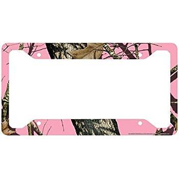 Amazon.com: Airstrike Pink Camo License Plate Frame, Mossy Oak Car ...