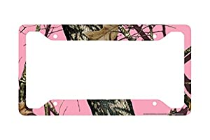 airstrike pink camo license plate frame mossy oak car tag frame camo license plate holder pink break up camo mossy oak license plate frame 30 8013