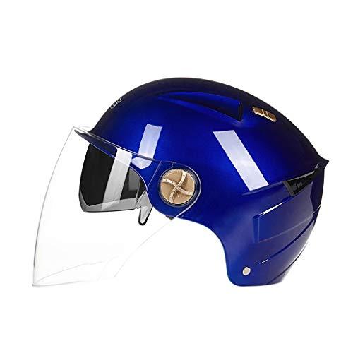 WXYM Casco de la Motocicleta Hombres y Mujeres Batería Coche eléctrico Verano Protección Solar Casco Universal UV Four...