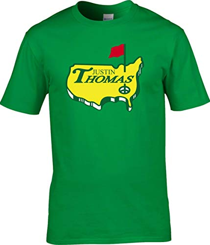 Shedd Shirts Green Justin Thomas The Masters Logo T-Shirt Adult ()