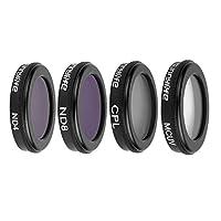 HoweNel 4 in 1 ND4 ND8 UV CPL Waterproof Camera Lens Filters kit for DJI Mavic 2 Zoom
