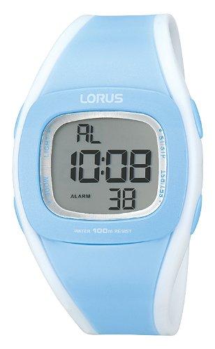 Lorus Fashion R2375GX9 - Reloj digital de cuarzo para mujer, correa de goma color azul