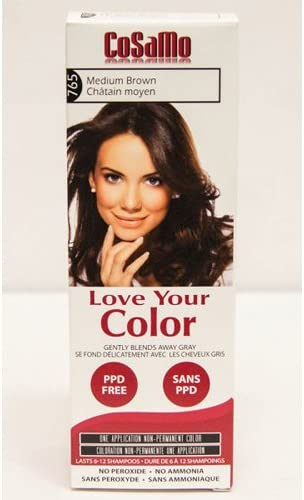Amazon Com Cosamo Love Your Color No Ammonia No Peroxide Hair Color 765 Medium Brown Pack Of 3 Comparable To Loving Care Health Personal Care