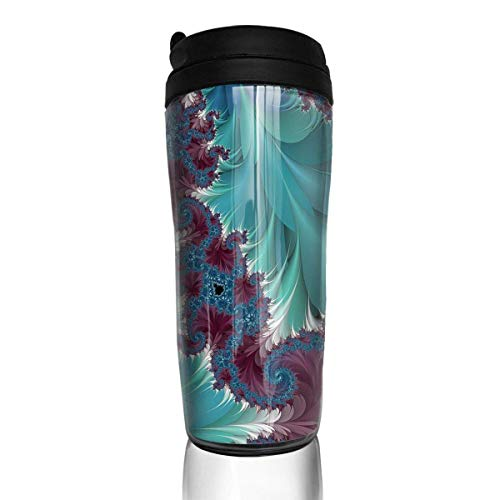 (KJHDSI Blue Unique Art Design Unisex Food Grade ABS Stainless Steel Flask Wwater Bottle Travel Mugs Stainless Steel Coffee Cup Unisex)