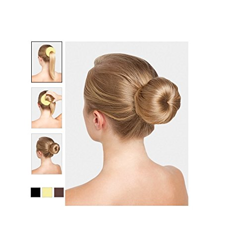 Beaute Galleria - Bundle 3 Pieces Chignon Brown Hair Donut Ring Style Bun Maker (Large, Medium, Small)