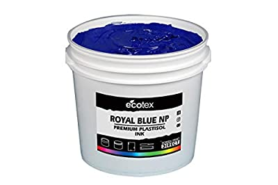 Ecotex Royal Blue NP Plastisol Ink for Screen Printing - Non Phthalate Formula - All Sizes