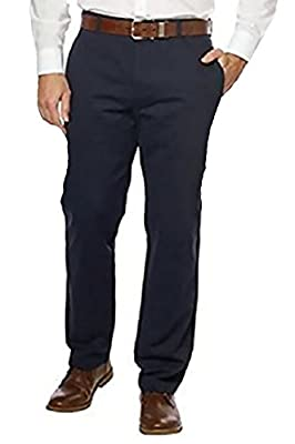 Calvin Klein Men's Soft Wash Twill Pant, Officer Navy, 36x32