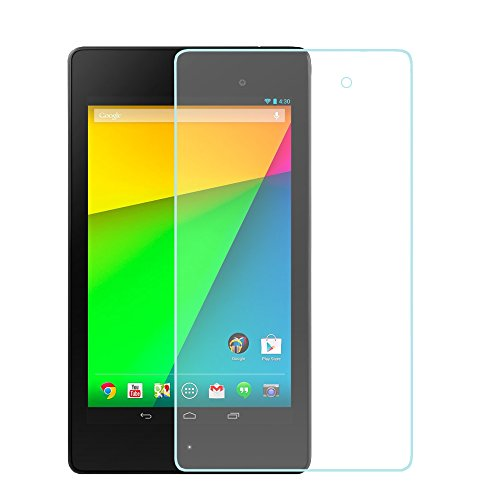 Google Nexus 7 2nd generation tempered glass screen protector, Tranesca Anti scratch HD clear tempered Glass Screen Protector for Google Nexus 7 2nd generation tablet 2013 edition