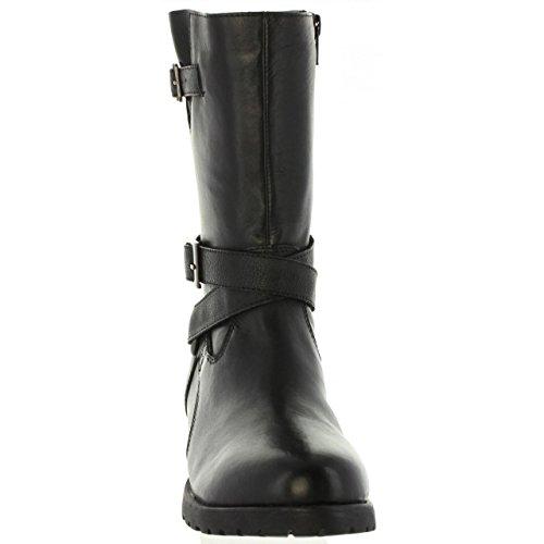 Noir Femme Graciato Kickers Bottes noir Motardes 4qFnfTw0