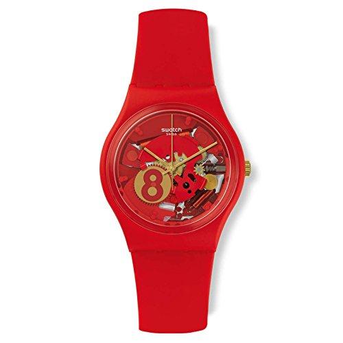 Swatch Boy's Gent GR166 Red Silicone Swiss Quartz - Kids Swatch