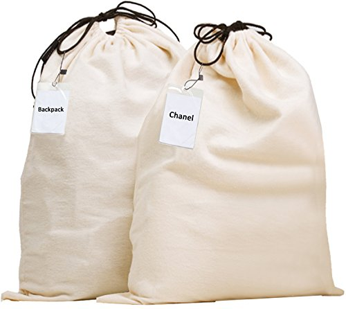 (Misslo Jumbo Drawstring Dust Covers Bag for Handbags Storage with Identification Pouch Included)