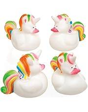 """Baker Ross Badeend""""Regenboog-eenhoorn"""" voor kinderen als kleine verrassing of als prijs bij partyspelen (4 stuks)"""