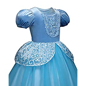- 41PQN9N3VwL - Children Princess Dress Up Costume Cosplay Dress for Girls Toddlers Party Birthday Girls Dresses Wonderful Gift