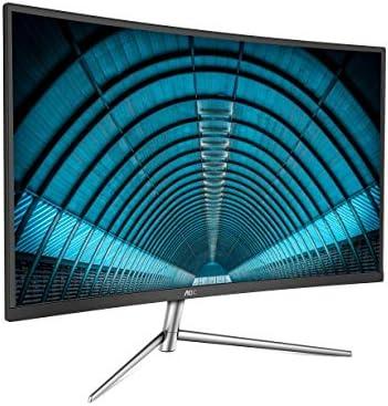 AOC C32V1Q 31.5″ Full HD 1920×1080 Monitor, Curved VA Panel, 4ms 75Hz, Frameless, HDMI/DisplayPort/VGA, Flickerfree, Low Blue Mode, VESA, Black 41PQNAMP8AL