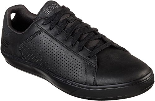 Skechers Mens GOvulc 2 - Grandeur Walking Sneaker Black Size (Skechers Leather Lace Up Sneakers)